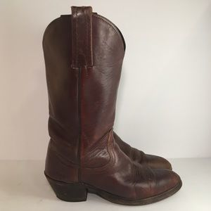 Frye Brown Leather Cowboy Western Boots Style 6258